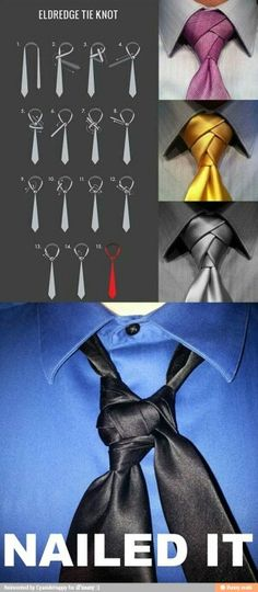the eldredge tie knot. That happened probably 8 times before I finally got it right! haha