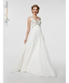 Pronovias Griso georgette and beaded dress.