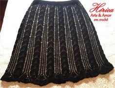 Saia em crochê - Midi H. Trabalho produzido com Linha Anne Círculo