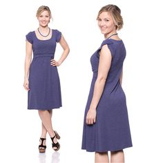 Viva la Mama   Nursing dress BELLA (jeans look). This breathtaking knee-length breast feeding dress charms everybody with its sweet cut. BELLA is beautiful but also functional for discreet nursing. It can be varied for different occasions, from elegant to casual.