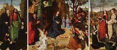 Portinari Altarpiece, the masterpiece by Flemish artist Hugo van der Goes (1440-1482). Uffizi, Florence.