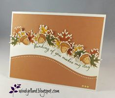 handmade blank one of a kind card leaves Autumn Quilting friendship greeting card thank you hello your friendship warms my heart