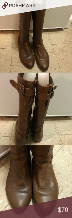 Aldo soft leather mid calve brown boots size 6.5 Aldo soft leather mid calve brown boots size 6.5 Aldo Shoes Winter & Rain Boots