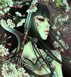 Full HDQ Geisha Pictures and Wallpapers Showcase Art Geisha, Geisha Kunst, Warrior Girl, Fantasy Warrior, Warrior Women, Fantasy Women, Fantasy Girl, Chat 3d, Art Asiatique