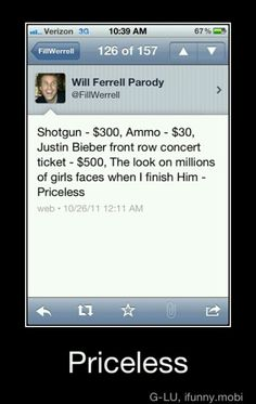 If Will Ferrell actually tweeted this... Hilarious!