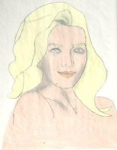 Carrie Brady AKA Christie Clark Drawing Finished done with prisma color Colored pencils and charcoal pencil or No.2 Pencil