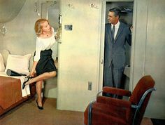 Eva Marie Saint and Cary Grant in North by Northwest