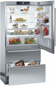 "CS2061 Liebherr 36"" Freestanding Cabinet Depth Bottom Mount Refrigerator - Left Hinge - Stainless Steel. $4999"