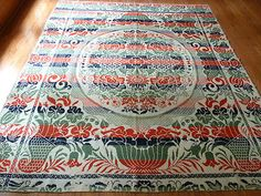 Antique Coverlet Signed Lehigh County Pennsylvania American 19th Century Antique Quilts, Pennsylvania, Over The Years, 19th Century, Outdoor Blanket, Textiles, Electronics, Cars, Signs