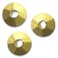 "Amazon.com: Luxury & Custom {3 x 6mm w/ 1mm Hole} of Approx 50 Individual Loose Small Size Rondelle ""Faceted"" Beads Made of Genuine Plated Pewter w/ Rustic Golden Metallic Finish Textured Spacer {Gold}: mySimple Products: Arts, Crafts & Sewing"