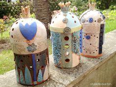 Lichterhäuschen - Fairy Tale House von Gaby Pühmeyer - Objekte aus Ton auf DaWanda.com