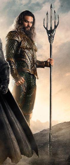 Jason Momoa as Aquaman Jason Momoa Aquaman, Aquaman Cosplay, Foto Top, My Sun And Stars, Khal Drogo, Dc Comics Characters, Wonder Woman, Vampire, Comic Movies