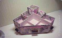 Поделка изделие Картонаж многофункциональный органайзер картонаж Картон Клей Ткань фото 1