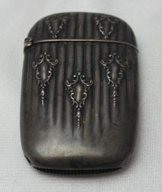 Antique Sterling Silver Match Safe Circa 1900 Watson Excellent Original