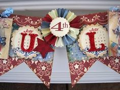 Cute vintage inspired 4th of July banner.