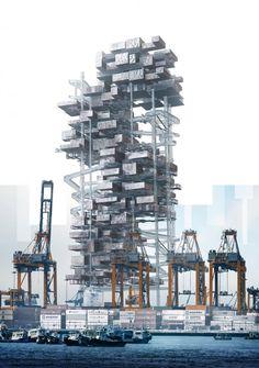 Architecture Presentation Board, Architecture Collage, Architecture Design, Futuristic Art, Futuristic Architecture, Parasitic Architecture, Vertical City, Temporary Architecture, Underwater City