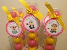 Pink Despicable Me Minion  Birthday Party by LolasSweetsAndTreats