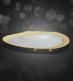 Gold Plated Oval Shell