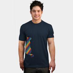 Cat. Animal. Cat. Rainbow. Colorful.