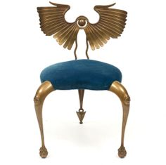 Mark Brazier-Jones, Wingback chair Bronze. Limited edition of 50. Edition sold out 1990