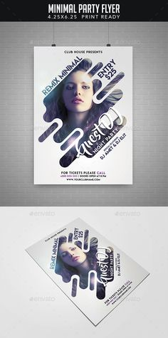 Minimal Party Flyer — Photoshop PSD #dance music #dj promote • Available here → https://graphicriver.net/item/minimal-party-flyer/19379976?ref=pxcr