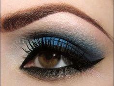 Makeup Tutorial: Navy Blue Drama