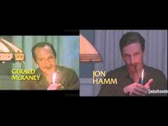 Side by Side of the Simon & Simon intro and parody by Jon Hamm and Adam Scott. Pure brilliance!