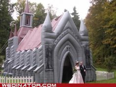 Yeah bouncy castle! This would be freaking sweet lol