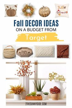 There's nothing quite like bringing the deep fall colors into your home decor. Scroll through some of our favorite fall decor finds from Target this year.   Take the hassle of social distancing away while you shop. These fall favorites are just a click away, shipped straight to your door. Can't get any easier than that! Autumn Inspiration, Home Decor Inspiration, Decor Ideas, Seasonal Decor, Fall Decor, Holiday Decor, Decorating Tips, Decorating Your Home, Dollar Store Crafts