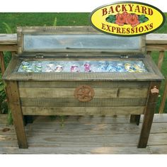 Barn Wood Cooler Console Table Ice Chest Sideboard