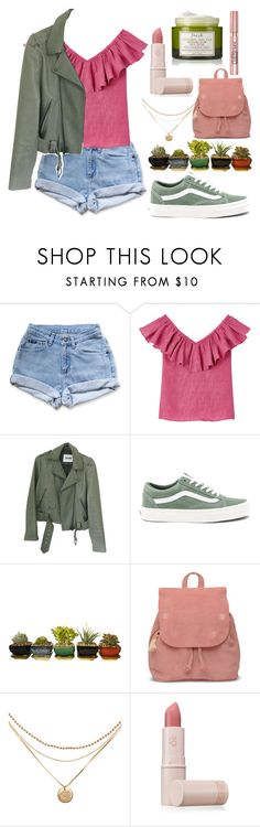 """""""Untitled #1064"""" by melisafash ❤ liked on Polyvore featuring Levi's, Acne Studios, Vans, TOMS, Lipstick Queen, Fresh and L'Oréal Paris"""