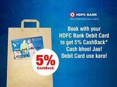 Start the year with #Cashback on movie & event tix! You'll love this #HDFCDebitCard #offer! Book your tix now.