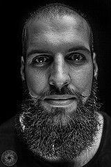 flickr (MacSnapper) Tags: portrait people blackandwhite bw white black art canon beard flash headshot 6d 2470 vision:people=099 vision:face=...