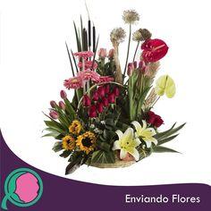 Pinta tu mundo de colores.  #EnviandoFlores #Flores #ArregloFloral #Aniversarios #Bodas #Cumpleaños #CentrosDeMesa #Detalles