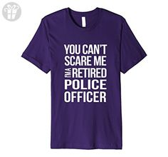 31d867342 Mens Funny Retirement Gift for Police Officer Retired Cop Gifts XL Purple - Funny  shirts (