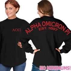 Alpha Omicron Pi Sorority Jerseys #sorority #alphaomicronpi #AOPi #AOΠ #gamedayjersey #somethinggreek