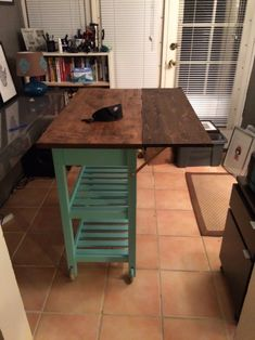 Rubber wood countertop rolling kitchen island cartRubber Wood Countertop Rolling Kitchen Island Cart kitchenislandOnce Upon an Acre: Ikea kitchen cart hack. Turning a boring kitchen cart into a .Once Upon an Acre: Ikea kitchen cart