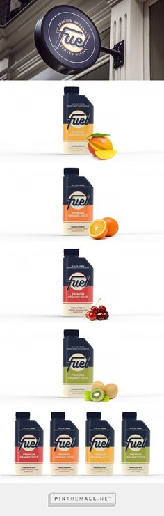Packaging Design Fuel Juice Co. Packaging by Fernanda Madrigal Centeno