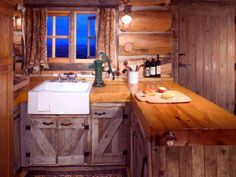 Rustic Kitchen in Red Lodge, Montana cabin...