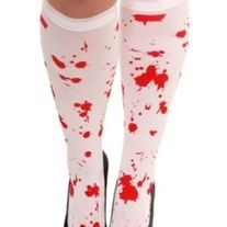 Dead+sexy Braaaaains.....  Blood+Splatter+white+sheer+knee+highs splatter+may+vary+ one+size+fits+most  great+for+Valentines+or+any+day.  Check+out+my+shop+for+other+goodies+:+) Brand+new+in+package