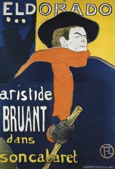 'Eldorado Aristide Bruant dans son cabaret' / Toulouse Lautrec, 1900