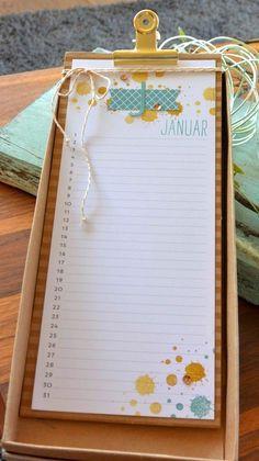 scrapbooking idea for a calendar ♥