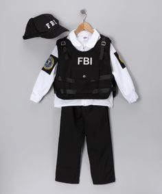 This Black FBI Agent Dress-Up Set - Kids by Dress Up America is perfect! #zulilyfinds