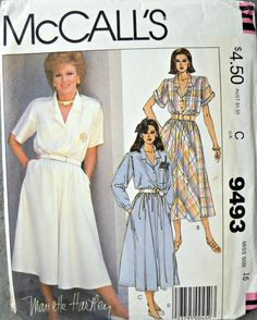 McCall's 9493 Dress and Permanent Blue by CurlicueCreations