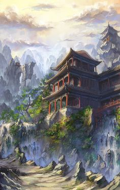 Asian Faction Monastery hills 古风