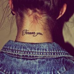 Pin for Later: 25 Back-of-the-Neck Tiny Tattoos to Inspire Your Next Ink Forever you.