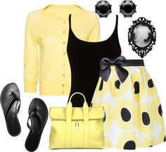 """#4 Yellow"" by hope-houston on Polyvore"