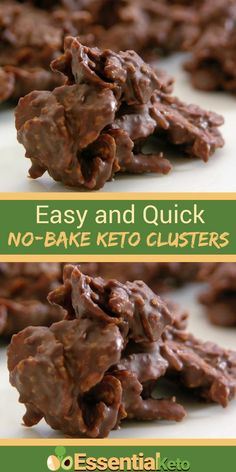 These No Bake Almond and Coconut Clusters are quick and easy to make. They are delicious and the perfect keto snack when you really need some sweetness... #keto #KetoCookies #KetoSnacks