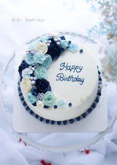 news – Lace Wedding Cake Ideas Blue Birthday Cakes, Elegant Birthday Cakes, Birthday Cake For Mom, Birthday Cake With Flowers, Bolo Floral, Floral Cake, Cupcakes, Cupcake Cakes, Birthday Cake For Women Simple