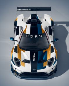 Sports cars are really popular not just to car racers but also to collectors and ordinary people. They are costly, no one would like to miss owning at least one model of sports vehicle. Ford Motorsport, Racing Car Design, Super Sport Cars, Exotic Sports Cars, Ford Gt40, Mustang Cars, Car Wrap, Le Mans, Fast Cars